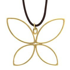 Butterfly Pendant On Leather - Necklaces - Collections