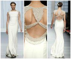 Glamour et détails du dos d'une robe de mariée Rosa Clara 2016