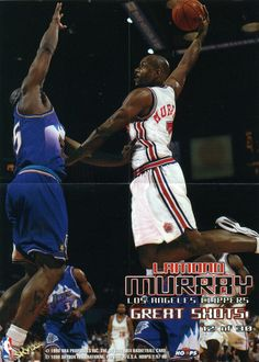 RARE 98/99 SKYBOX GREAT SHOTS NBA MINI POSTER LAMOND MURRAY LOS ANGELES CLIPPERS #LosAngelesClippers