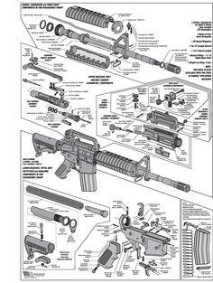 AR 15 Take Down Diagram