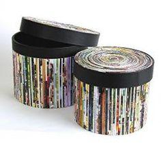 Круглая коробочка из бумажных трубочек