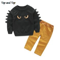 5453c4617b0 Kids Clothing Sets Long Sleeve T-Shirt + Pants