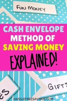 Cash Envelope Method of Saving Money - Hassle Free Savings Dave Ramsey Envelope System, Cash Envelope System, Budgeting Finances, Budgeting Tips, Saving Tips, Saving Money, Budget Binder, Cash Envelopes, Coupon Organization