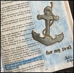 Sentiments and Scrapbooks: Hope as an Anchor {Bible Art Journaling}