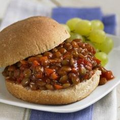 Nothing beats the comfort of a classic sloppy joe. Get the best sloppy joe recipes and easy sloppy joe recipes that will have everyone talking here. Vegetarian Recipes Easy, Vegan Vegetarian, Cooking Recipes, Weeknight Recipes, Healthy Recipes, Vegan Foods, Healthy Eats, Yummy Recipes, Manwich Recipe