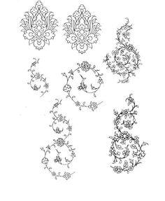 Second Hand Red Carpet Runner Islamic Motifs, Islamic Art Pattern, Persian Motifs, Arabic Pattern, Pattern Art, Islamic Tiles, Islamic Calligraphy, Calligraphy Art, Stencil Painting