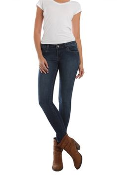 Introducing the Elle, our newest skinny jean style that's made with super comfortable denim that feels much like a legging. The subtle fading on these easy to wear, easy to pair skinny jeans are perfect for tucking into boots this fall.