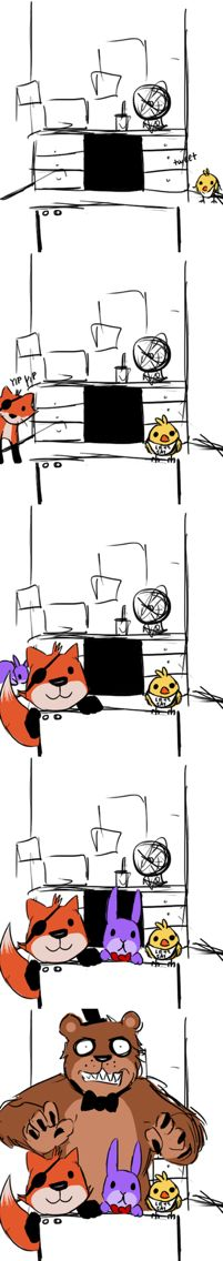 ALL IS CUTE BUT FREDDY!!. Chica's cute Foxy's cute Bonnie's cute  but freddy is scary!!! LIKE AND FOLLOW ME IF YOU THINK THIS IS FUNNY