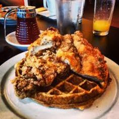 What you should get: Fried Chicken & Waffles & Chili Cheese Fries. The crispiest, flaky-crusted fried chicken served atop a substantial golden waffle. Add Grade A Vermont maple syrup & hot sauce, and order chili cheese fries. Their house-cut Idaho potatoes are topped with high-quality beef chili, cheddar, & freshly sliced green onions & jalapeños. On a Tues night, chicken & dumplings special, tender white chicken & thick-&-satisfying buttermilk chive dumplings in a veggie- & herb-rich base.