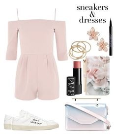 """""""Untitled #349"""" by nguyethally ❤ liked on Polyvore featuring Oh My Love, Yves Saint Laurent, NAKAMOL, M2Malletier, Ted Baker, NARS Cosmetics, Urban Decay and ABS by Allen Schwartz"""