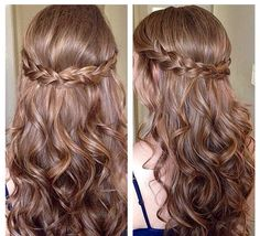 Simple updos for long curly hair - New hair hairstyles 2018 - . - Simple updos for long curly hair – New hair hairstyles 2018 – - Dance Hairstyles, Down Hairstyles, Wedding Hairstyles, Hairstyles 2018, Bridesmaid Hairstyles, Braided Hairstyles, Bridesmaid Hair Half Up Braid, Sweet 16 Hairstyles, Latest Hairstyles
