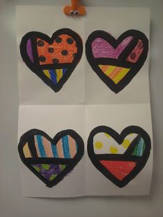 ARTASTIC! Miss Oetken's Artists: Britto Valentine's Day themed hearts