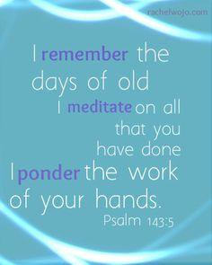 psalms 143:5