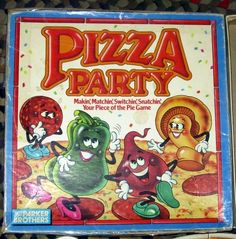 I think we should buy one of these games and keep it at the cottage. We loved this!! pizza party game. Another classic 80s/90s toy I had.