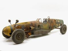 "Messerschmitt Bf 109 ""Creeping Death"" by Hakan Guney -- Nice idea -- a car with cannon. Buick, Steampunk, Panzer, Dieselpunk, Plastic Models, Custom Cars, Concept Cars, Cadillac, Scale Models"