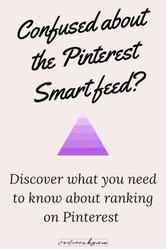 Are you confused about the Pinterest Smart Feed and how it works? The Smart Feed uses some of your past searches and keywords to show pins most relevant to you! In this blog post, discover what you strategies you need to know about Pinterest marketing to Business Entrepreneur, Business Marketing, Business Tips, Social Media Marketing, Online Marketing, Online Business, Marketing Strategies, Marketing Ideas, Creative Business
