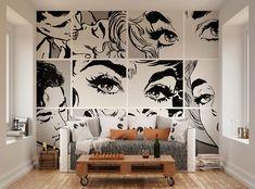 Pop Shades Wallpaper Mural   ohpopsi