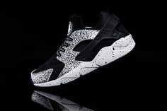 new style cff22 3eda0 WMNS Nike Air Huarache ID Run Safari Black White Pure Platinum Popular  Shoes, Workout Shoes