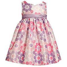 Ashley Ann- -Infant & Toddler Girl's Dress Sleeveless Dotted Purple/Pink