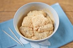 Warabi mochi, unlike mochi made from rice flour and served around the New Year, is made from finely ground bracken starch coated in toasted soybean powder. This summer treat is sweet and nutty and a cinch to make with the right ingredients.