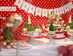 There are lots of easy options for desserts on your Christmas party menu, there are so many amazing ideas for cupcake toppings, cute cake pops and other mini cakes and treats. You could also run a 'candy bar' for the guests, children and adults alike will love this. Buy a variety of sweets in bulk and set out in glass jars, provide paper bags and let the guests help themselves to the sweetie shop.