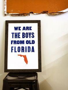Old Boys - Florida, FL - Old Try - Letterpress Print