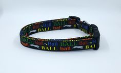 Ball Chaser Black Dog Collar Did someone say Balls by Maltipaws on Etsy