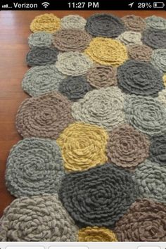 Crochet rug- great colors