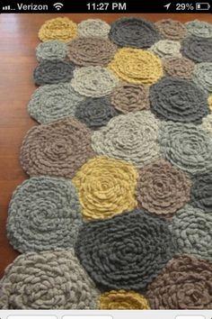 Crochet rug- great colors