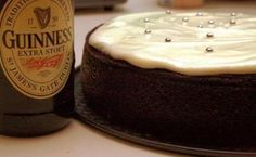 A scrumptious alternative to the traditional Irish Christmas cake - Chocolate Guinness cake