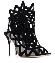 Sophia Webster Black  Sophia Webster Black Cut-Out Sandal