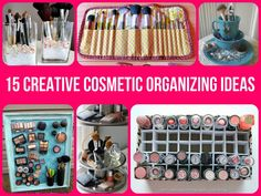 Makeup organization ideas tips / how to make a dorm room cooler Organisation Hacks, Office Organization, Makeup Organization, Organizing Ideas, Organising, Dyi, Diy Rangement, Makeup Storage, Makeup Drawer