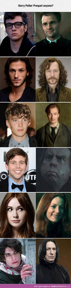 Someone has to make this Harry Potter prequel. The amount of perfect that this casting is. Through the freaking roof.