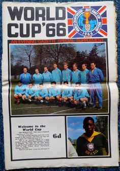 World Cup Willie 1966 Colour Evening Gazzette 22 page newspaper Bobby Moore○