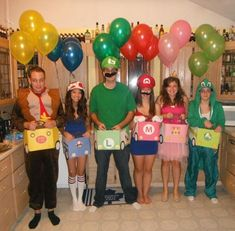 Mario Kart group costumes 15 Incredibly Creative Halloween Costume Ideas : The Lion's Den University Creative Halloween Costumes, Diy Costumes, Halloween Diy, Happy Halloween, Halloween Decorations, Costume Ideas, Halloween Stuff, Simple Costumes, Friend Costumes