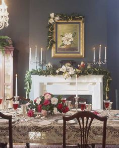 Holiday decorating with flowering magnolias is traditional throughout the South; this is a 19th-century house near Lafayette, Louisiana. (Photo: Franklin & Esther Schmidt)