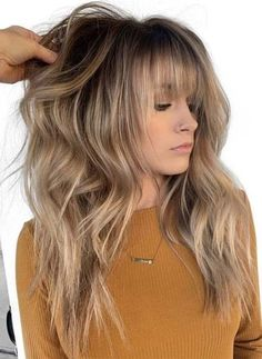 12 Best Long Balayage Hairstyles with Bangs in We have collected a lot of best styles of long balayage hair styles and haircuts with bangs for ladies to wear in You can say these are trendy and cutest styles in long hair looks. Haircuts For Long Hair With Bangs, Straight Hairstyles, Haircuts For Girls, Long Hairstyles With Layers, Full Fringe Hairstyles, Long Haircuts, Long Bangs, Popular Haircuts, Winter Hairstyles