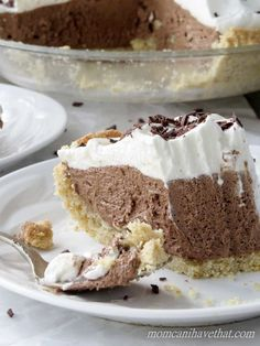 Low Carb French Silk Pie is 4 net carbs per serving. This low carb dessert has a delicious gluten free walnut pie crust! This pie recipe is low carb, gluten-free, keto, THM compliant!