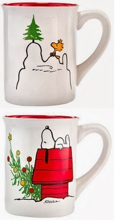 Peanuts Christmas Coffee Mug - Peanuts and in particular Snoopy fans will love this Christmas themed Peanuts coffee mug!  #peanuts #snoopy