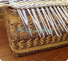 Поделка изделие Плетение Сундук Бумага газетная фото 6