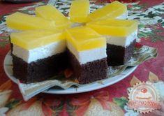 Fanta szelet recept Nyomj egy lájkot,ha Te is szereted Hungarian Recipes, Hungarian Food, Cake Bars, Dessert Recipes, Desserts, Cheesecake, Food And Drink, Sweets, Snacks