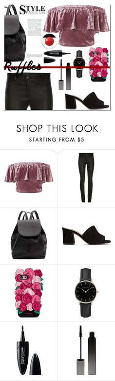 """""""Playing with Ruffle tops"""" by lynksmichelle ❤ liked on Polyvore featuring Sans Souci, ElleSD, Witchery, Maryam Nassir Zadeh, Kate Spade, ROSEFIELD, Maybelline, Serge Lutens, Elizabeth Arden and women"""