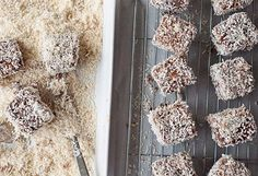 So Australian they have a national day, Lamingtons are part of every kid's upbringing. These homemade ones have as rich a flavour as they do a history