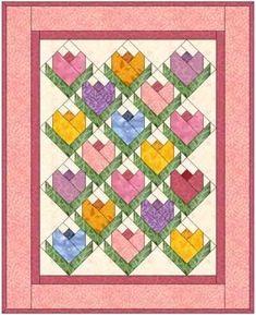 많이 사용되는 튤립 블록입니다. 핑크 계열로 만드니 로맨틱하고 예쁘네요.^^블록방향을 다르게 배열하는 ...