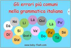 """Flash """"gli errori più comuni nella grammatica italiana"""""""