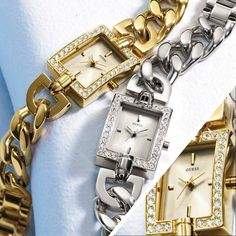 Wear your watch like your jewelry with statement chain watches from Guess #Guess