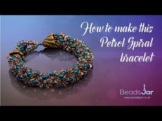 How to make this petrol spiral bracelet | Seed Beads - YouTube