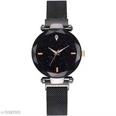 Checkout this latest Watches Product Name: *MMD  Casual Black Dial Magnet Strap Analog Watch for Girl & Woman's Watch* Strap Material: Metal Display Type: Analogue Size: Free Size Multipack: 1 Country of Origin: India Easy Returns Available In Case Of Any Issue   Catalog Rating: ★4 (354)  Catalog Name: Classic Women Watches CatalogID_2020742 C72-SC1087 Code: 432-10927383-084