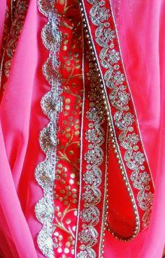 Elley fashion: shifon sarri with heavy work border...by www.elley...