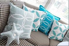 DIY Stencil : Fabric Stenciling:Pillows